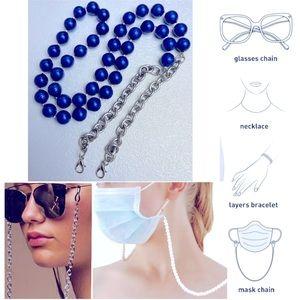 Multi-function beads chain mask eyeglasses